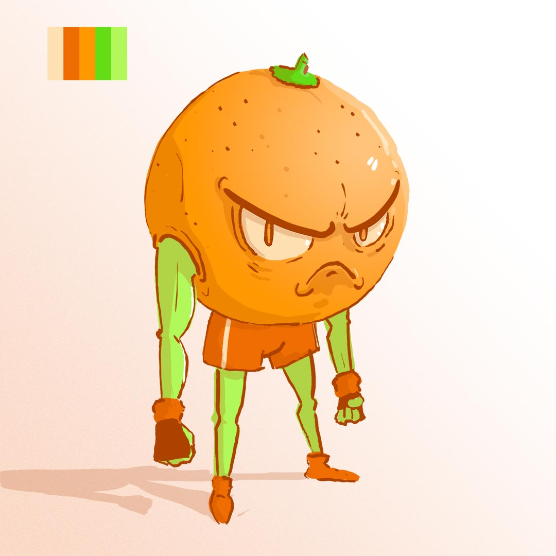 The Angry Orange - Quick character concept.