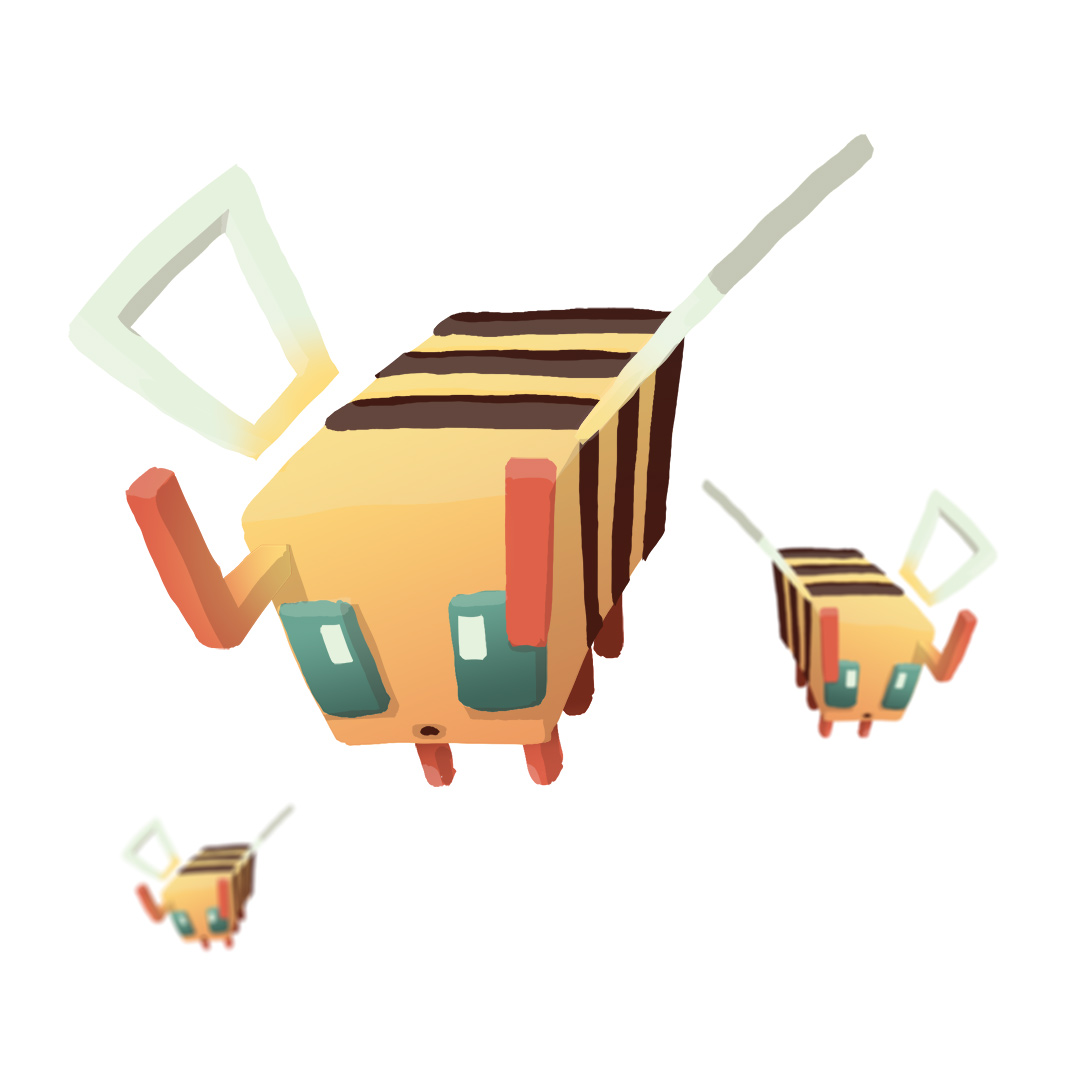 Bees are now in Minecraft - Here a quick illustration to celebrate.