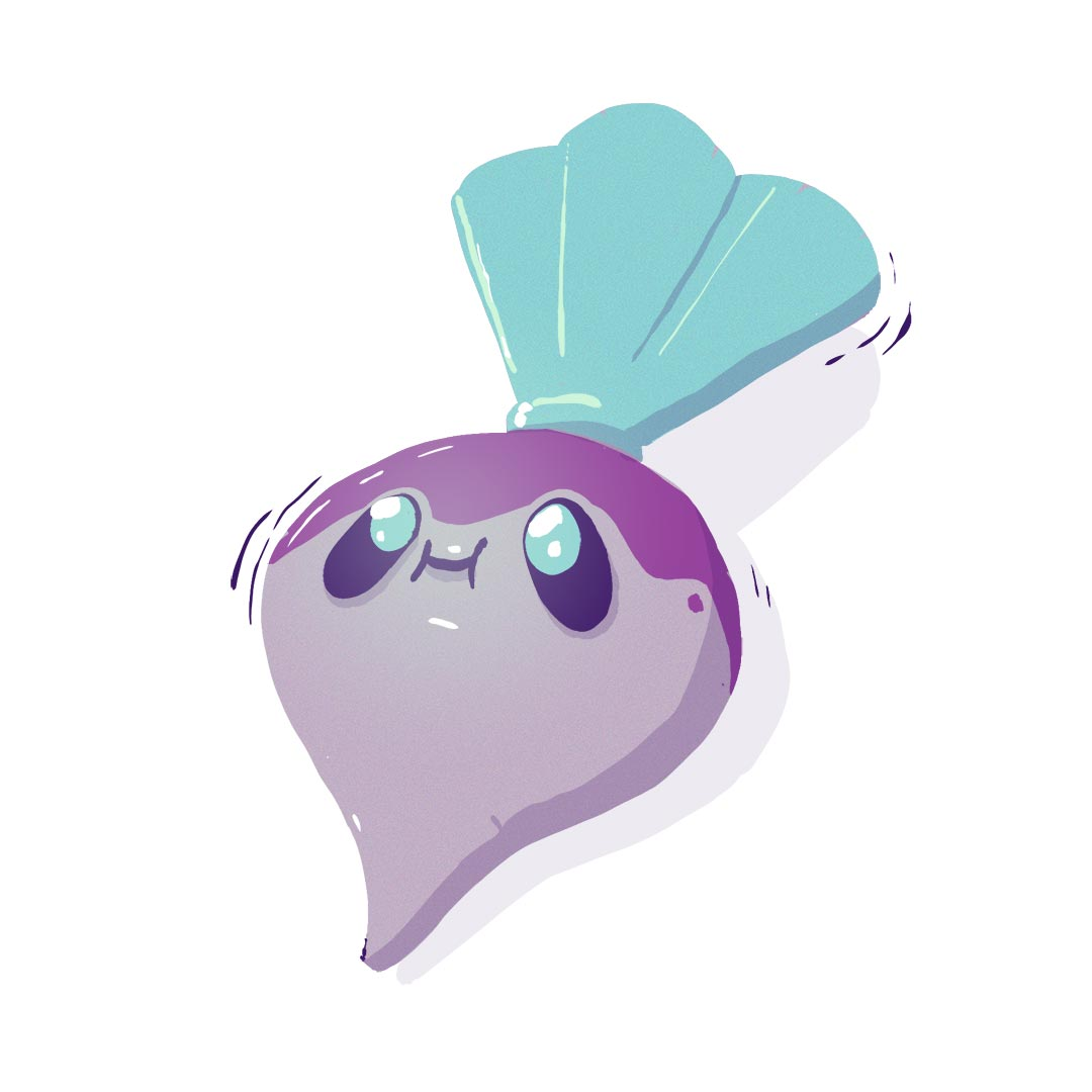 Illustration of adorable turnip
