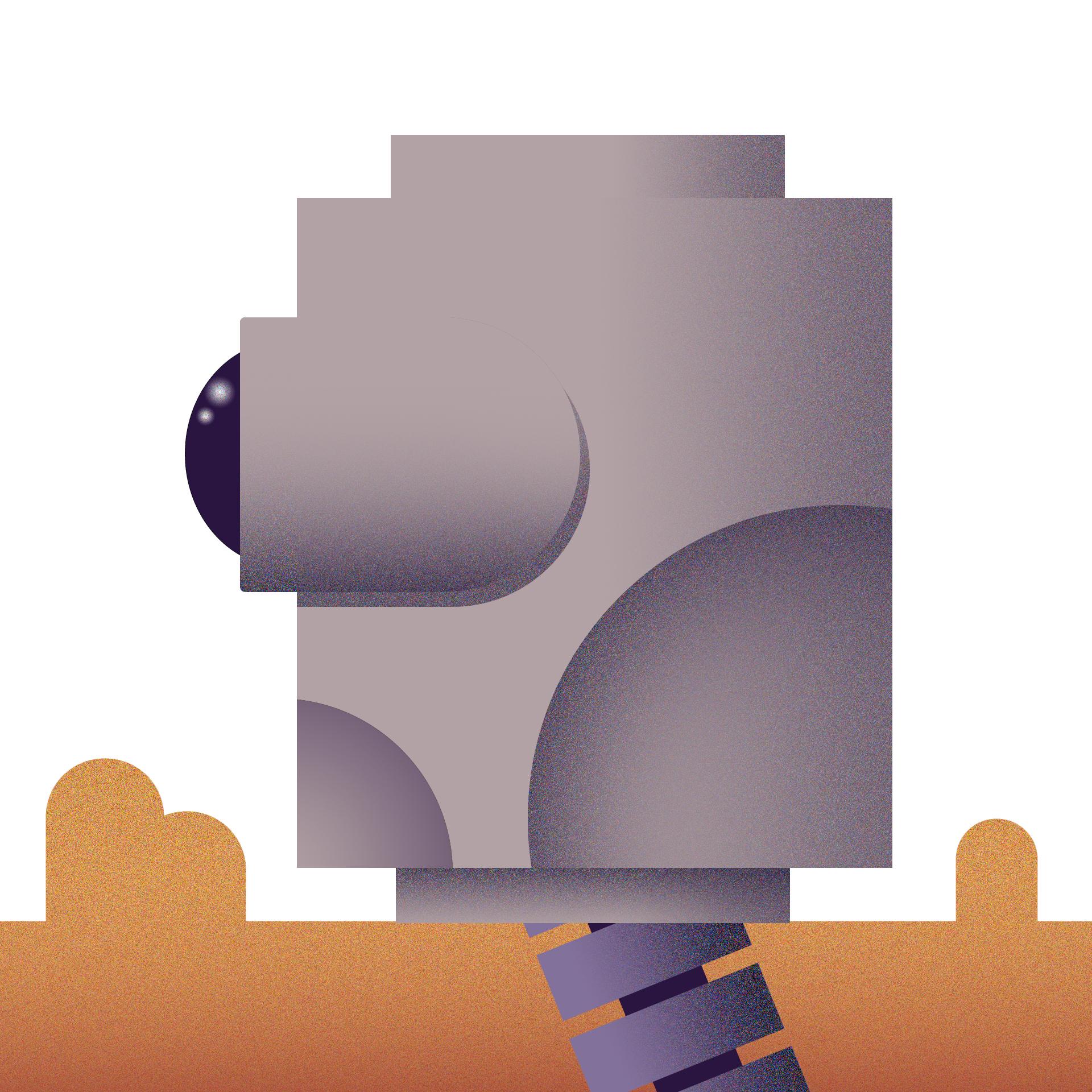 Robot in desert